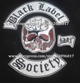 HIGH QUALITY BLACK LABEL SOCIETY PATCHES OF THE JACKET CLOTHES PATCHE IRON ON MOTORCYCLE BIKER LARGE PATCHES WITH 4PCS/SET