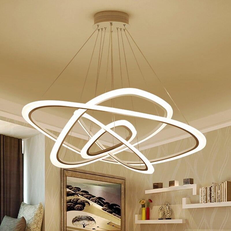 New Modern pendant lights for living room dining room 4 3 2 1 Circle Rings acrylic New Modern pendant lights for living room dining room 4/3/2/1 Circle Rings acrylic LED Lighting ceiling Lamp fixtures