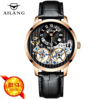 AILANG High Quality Double Tourbillon Automatic Mechanical Men Watch Male Clock Top Brand Luxury Swiss Watch Relogio Masculino