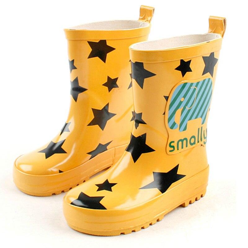 Enfants bottes de pluie bébé mignon neutre bon dessin animé mode garçons et filles bottes hautes bonne vente antidérapant imperméable enfants chaussures