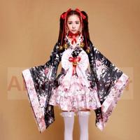 Giappone Carino Costume Del Kimono lolita scuola pannello esterno di tulle sexy cosplay Uniforme Meidofuku Vestito Cameriera Outfit Costumi Cosplay Cherry