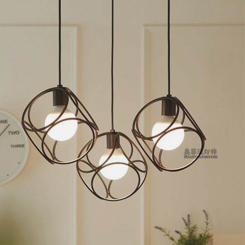 Three modern simple LED bar, 3 single head cafe, study dining creative Pendant Lights personality restaurant lo71107 modern simple single head loft light small pendant lights personality bedroom bedside cafe restaurant bar led lamps