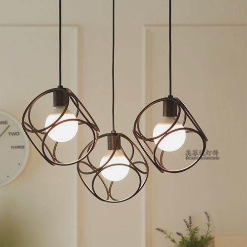 Three modern simple LED bar, 3 single head cafe, study dining creative Pendant Lights personality restaurant lo71107 three 100ml