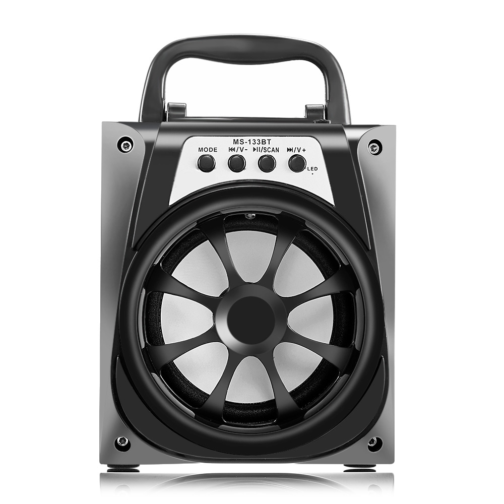 MS - 133BT Portable High Power Output FM Radio Wireless Bluetooth Speaker Support AUX Function Songs Track t6 bluetooth 3 0 speaker with handsfree function songs track mic