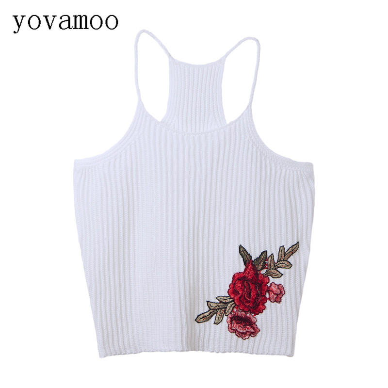 2019 Summer Streetwear Runway Sexy Pink Black Embroidery Top Spaghetti Strap 3d Floral Camis Women Appliquies Vest Tank Tops Women's Clothing