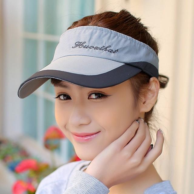 1941d6eda20 Summer outdoor male women s sports tennis ball cap crownless sunbonnet sun  hat baseball cap visor