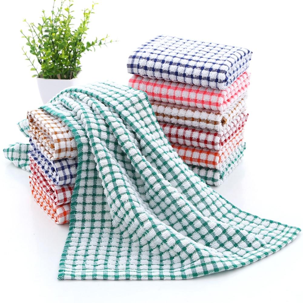 Toallas de cocina para el hogar absorbentes Thicke Super absorbente paño de limpieza de platos de mesa de limpieza de microfibra Mantel de mesa decorativo GIANTEX mantel de algodón mantel redondo para comedor