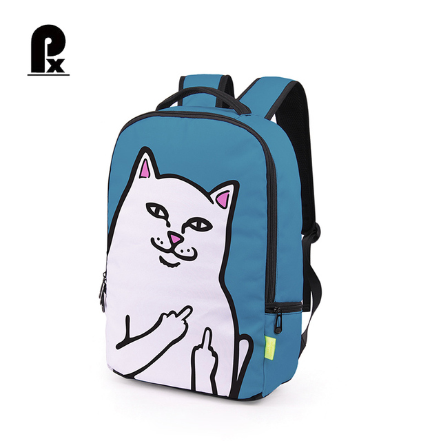 300a144c062 Hot Sale Creative Cheap Cat Backpack Middle Finger Funny Cat Cheap  Personalized Bags Unisex Schoolbag Backpacks Book Bag Mochila