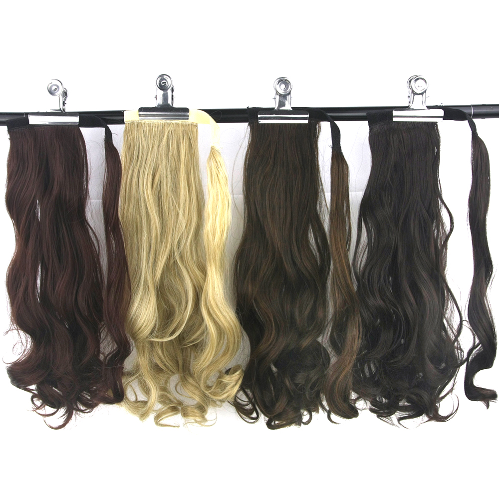 Soowee Curly Synthetic Hair Wrap Ponytails Clips In Hair Extension