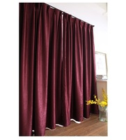 Full Shading Hotel Curtains for Living Room Bedroom Solid Color Insulation Thick Double Velvet Curtain Fabric Modern Minimalist