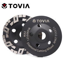 TOVIA 125mm Diamond Grinding Wheel Polishing Stone Grinding Wheels For Angle Grinder Stone Granite Marble Polish Disc [1st step] 8 ncctec diamond stone slabs grinding disc 200mm granite abrasive wheels plate 12 segments iron base grit 50