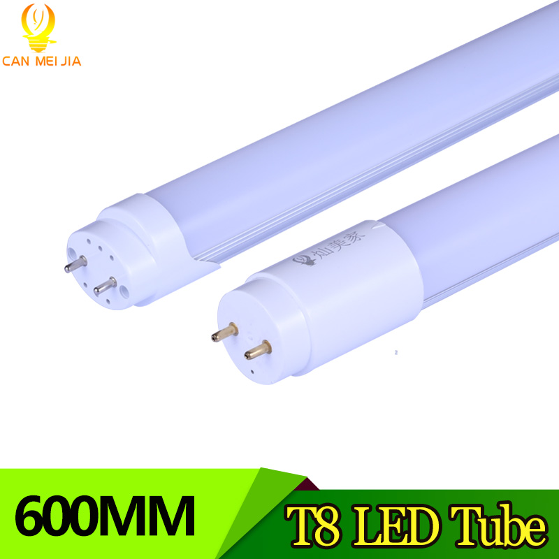 CANMEIJIA  LED Tube T8 2ft 9W 10W  600mm Super bright T8 Tube Lamp G13 SMD2835 Replace Led Fluorescent Lights 220V Cold White 9pcs lot t8 led tubes lights 4ft super bright 28w g13 fluorescent tube led bulb energy saving for existing wall lamps light