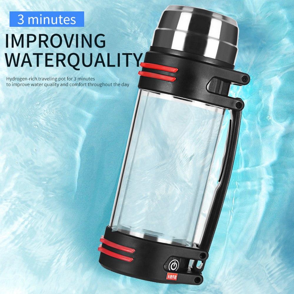 Богатая водородная бутылка для воды ионизатор генератор отрицательная машина электролиз слабый фильтр напиток водородное стекло бутылка ... - 3