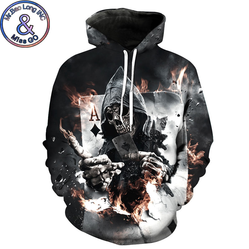 Melted Skull Hoodie Sweatshirt Men Women 2018 New Funny 3D Hoodies Sweatshirts Mens Casual Pullovers Streetwear Tops Sweat Homme