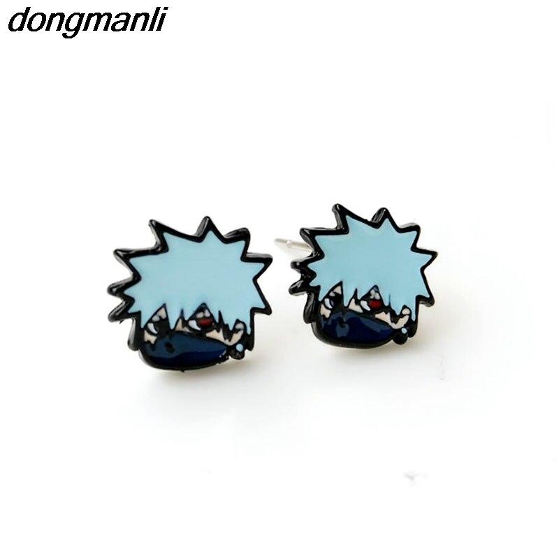 P661 dongman classic Japan Cartoon Anime Naruto Cute stud earrings for women 2017 fashion jewelry Dropshipping