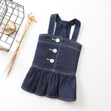 2019 Dog Dress Spring/Autumn Jeans Clothes Blue Soft Denim Puppy Skirt Pet Small Dogs Chihuahua Teddy For Y4