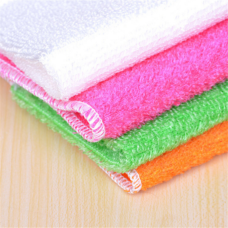10 Pcs New Arrival Kitchen Cleaner wipping rags efficient Bamboo Fiber Cleaning Cloth home washing dish Cloth