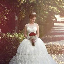 Wedding Dresses Sleeveless with Court Train Bridal Gowns