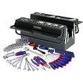 Workpro 183 unid repair tool set kit de herramientas del propietario de la vivienda con 5 compartimiento voladizo destornillador de trinquete llave de tubo alicates