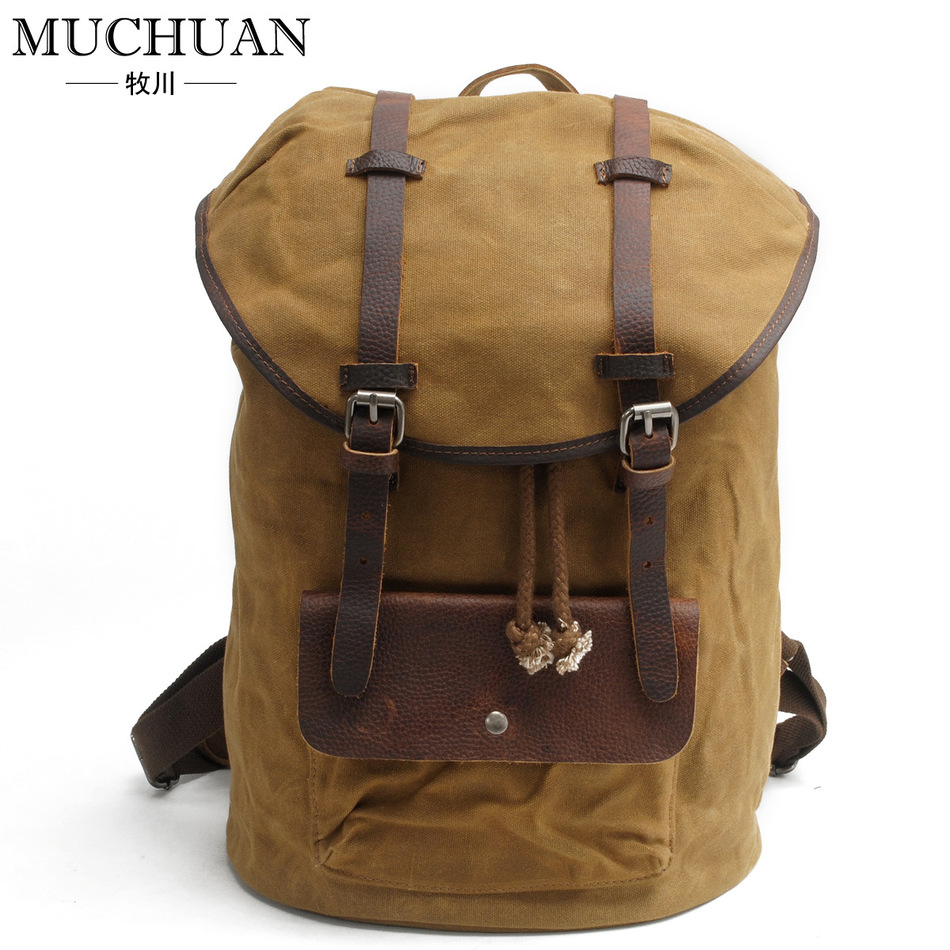 Pattern Both Shoulders Package Man Oil Cerecloth Waterproof Leisure Time Computer Backpack European Restore Ancient Ways A Bag  muchuan cloth 2014 european restore ancient ways trend man single shoulder package diagonal package ma am leisure time package