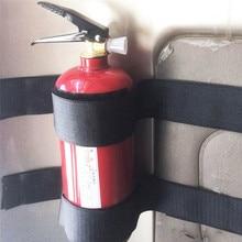 2 pçs/set alta qualidade conveniente sólido seguro universal carro extintor de incêndio fixação banda titular cinto gaiola suporte #282168