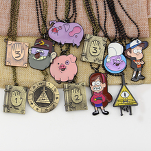 12 Styles Drama Gravity Falls Mysteries Bill Cipher Wheel Long Chain Pendant Journal DIY Pyramid Necklace Birthday Gift Jewelry