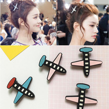 New Arrival Striped Airplane Hair Clip For Women Hairgrips Styling Girls Hairpin Lovely Rope Accessories