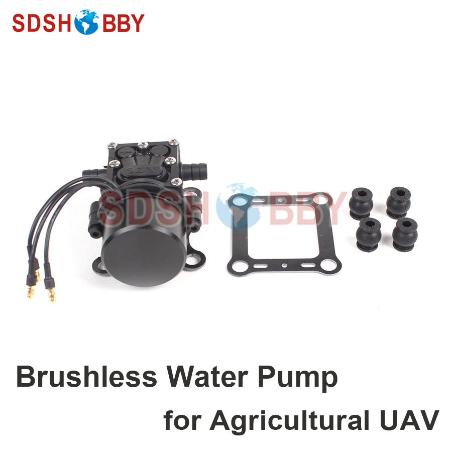 Brushless Mini Water Pump Plant Protection Pump Micro pressure backflow type diaphragm for 5KG 10KG Agricultural UAV popular sale 30w small diaphragm return valve type 12v high pressure water pump