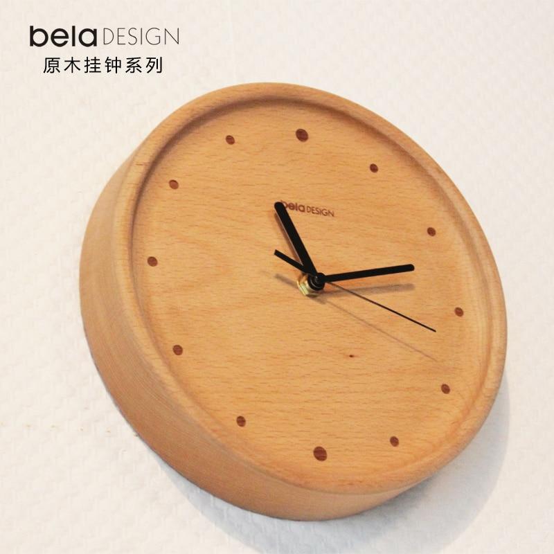 Dřevěné nástěnné hodiny v obývacím pokoji nástěnné hodiny krátce uklidněte bukové masivní dřevo