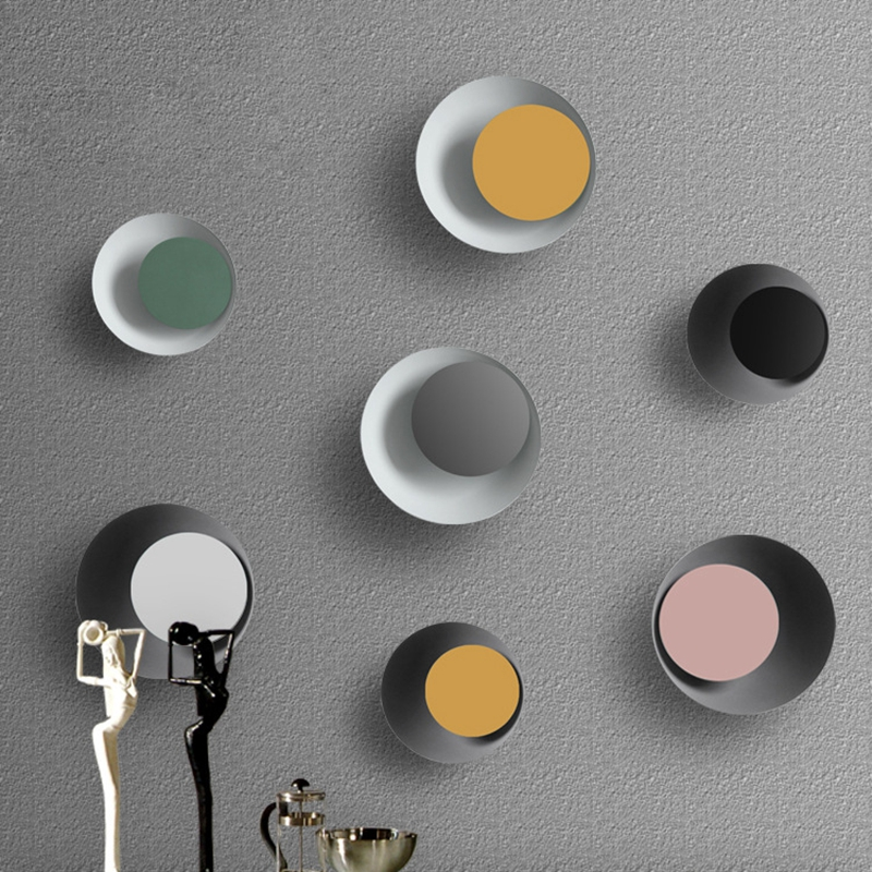 цена на Modern Wall Lamp Colorful 110V 220V Creative Eclipse LED Aisle Bedside Lamp Bedroom Hotel Living Room Decoration Lights Brace