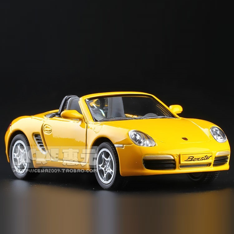 High Simulation Exquisite Diecasts&Toy Vehicles: KiNSMART Car Styling Convertible BOXSTER S Sports Car 1:36 Alloy Diecast Model