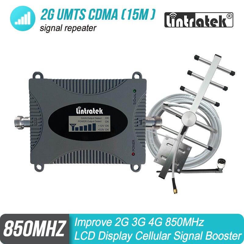 CDMA GSM UMTS 850 mhz Cellulaire Répéteur de Signal 2G/3G/4G Bande 5 850 Mobile téléphone LCD Booster Amplificateur Cellulaire Repetidor Set #4