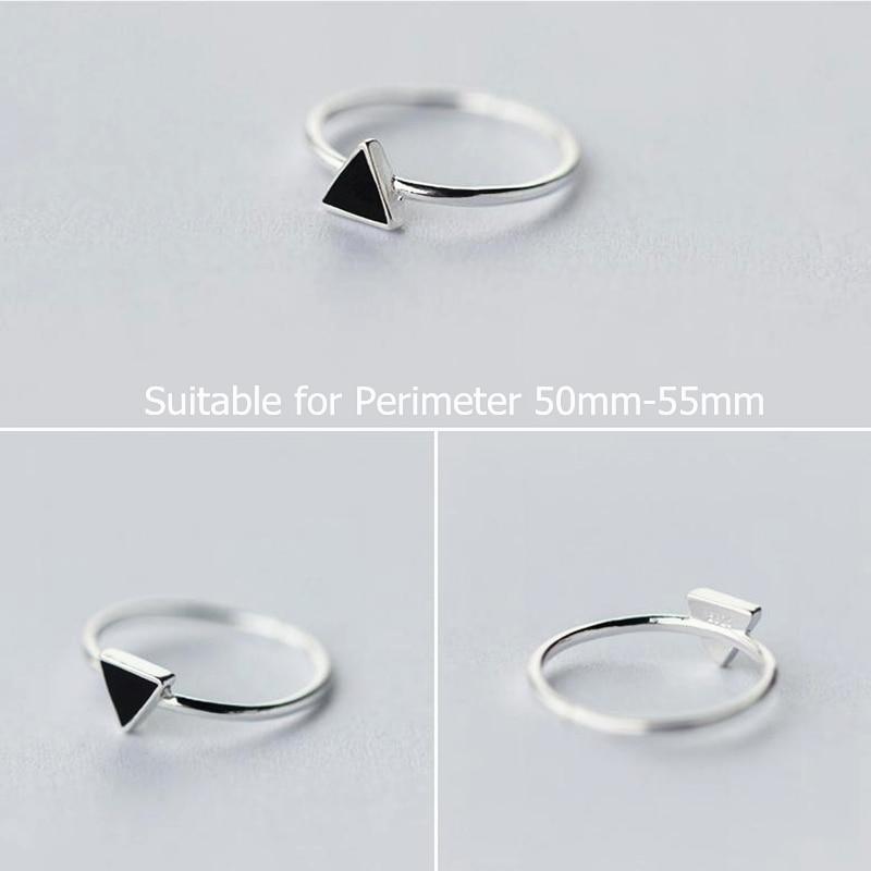Anillos de triángulo de geometría de plata esterlina 925 simples - Bisutería - foto 3