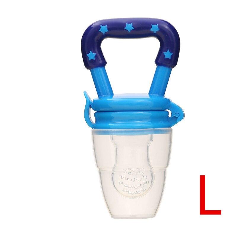 Детская соска для свежего питания, соска для кормления детей, соска для кормления фруктов, безопасные соска, бутылочки - Цвет: BlueL