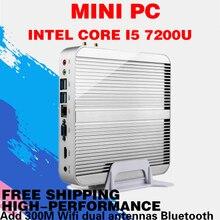 Mini pc 4 К htpc безвентиляторный компьютер core i5 7200u кабы lac stick usb 3.0 win10 бесплатная доставка 16 ГБ ram intel hd graphics 620