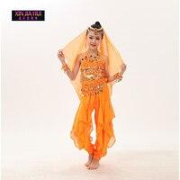 הודיות סרי באיכות בנות Enfant Orientale שמלת תלבושות הודי בגדי ריקוד לילדים סטי ריקוד בטן תלבושות ריקוד מזרחי