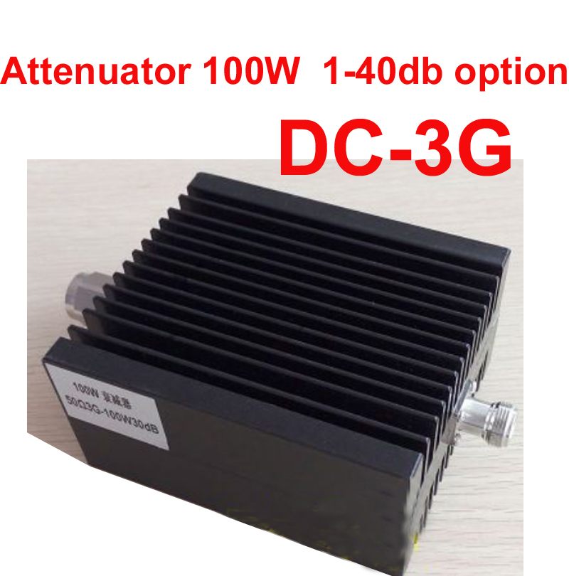 100W telecom RF attenuator communication converter N male N female DC-3G 10-50DB attenuation connector feeder RF COAXIAL jack