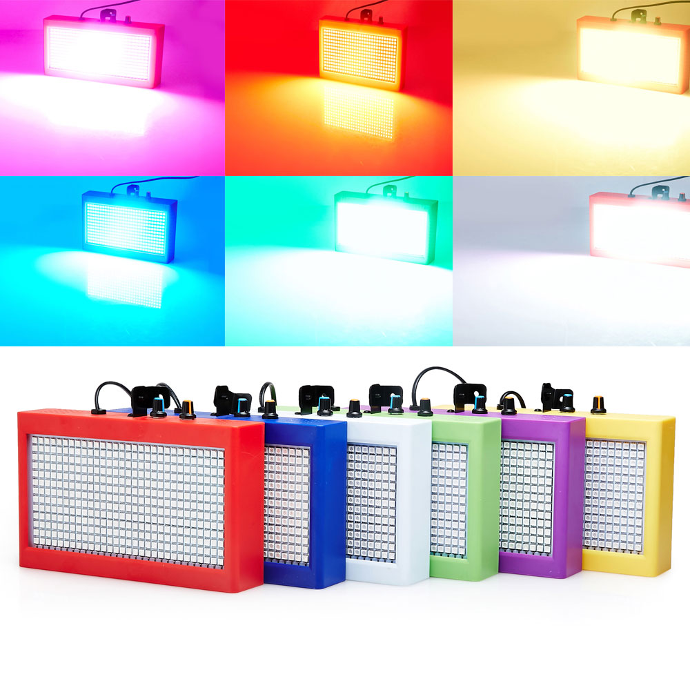 ФОТО Mini Voiced Control 390RGB SMD5050 LED Disco Party DJ Par Home Light Music Show Strobe Projector Stage Lighting Effect