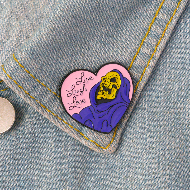 Brooch and Pin Beelejuice Cat Death Heart Balloon Game Turntable Console Gamepad Food box Enamel Pin Badge Brooch Collection 5