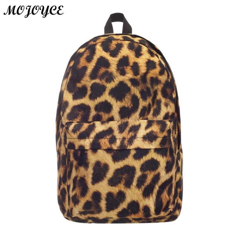 Fashion Leopard Backpack School Bag For Boys Girls Rucksack Fully Printed Luggage Travel Students School Bags Mochila Feminina