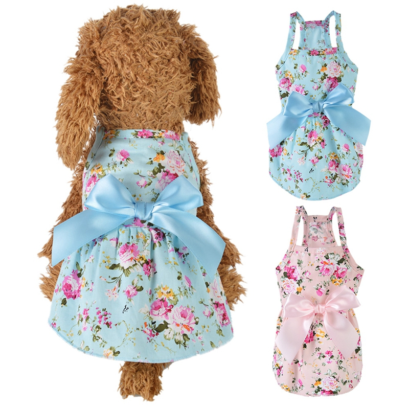 2020New Pet <font><b>Dog</b></font> Clothes <font><b>Dress</b></font> Sweety Princess <font><b>Dress</b></font> Teddy Puppy <font><b>Wedding</b></font> <font><b>Dresses</b></font> Fot <font><b>Dog</b></font> Small Medium <font><b>Dogs</b></font> Pet Accessories image