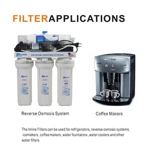 """Image 5 - 2 Pack of Universal Fridge and Icemaker Water Filter Inline Coconut Carbon Block Filter 2000 Gal, 2"""" OD X 10"""" Length,1/4"""" female"""