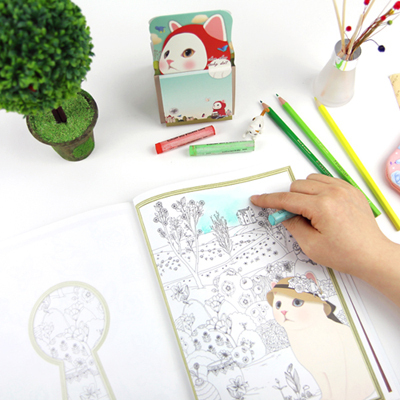 Secret Garden Art Design Book Coloring Books For Adults Colorful Jetoy Choo Cat Painting Bookls In From Office School Supplies On