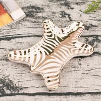 Nórdico ouro tigre pele cerâmica bandejas decorativas zebra pequena jóias prato anéis pulseiras brincos placa bandejas titular lanche prato|Bandejas de armazenamento| |  -
