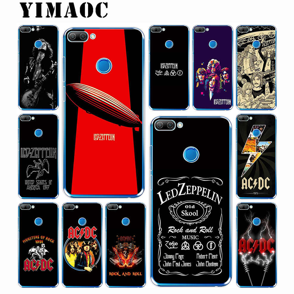 Led Zeppelin ACDC Bands Soft Case for Huawei Honor 10 9 8X 8C 8 7C 7X 7A Pro 6A Lite Note 10 Nova 3i 3 2i Y6 Y7 Y9 Prime 2018