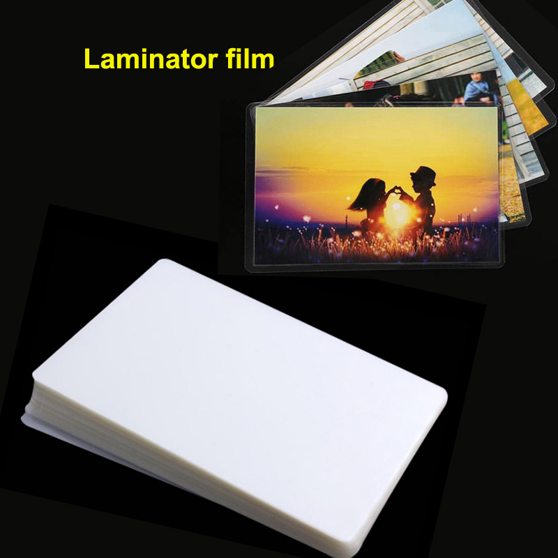 100 Sheets/Pack A4 R4 6inch 70mic  Thermal  Laminator Flim PET+EVA Material 100Pcs/Pack For Photo/Files/Card/Picture Laminating