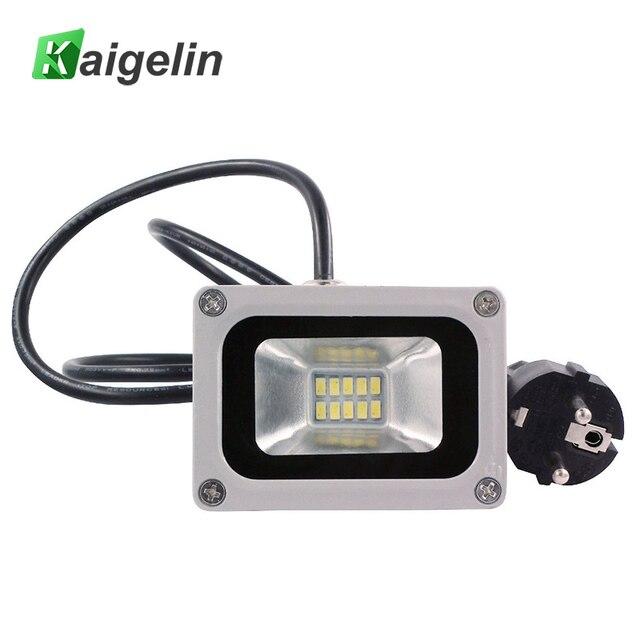 10w Led Flood Light 220 240v 1100lm Reflector Floodlight Eu Plug Ip65 10 Smd5730 Lamp Gargen Lighting Outdoor