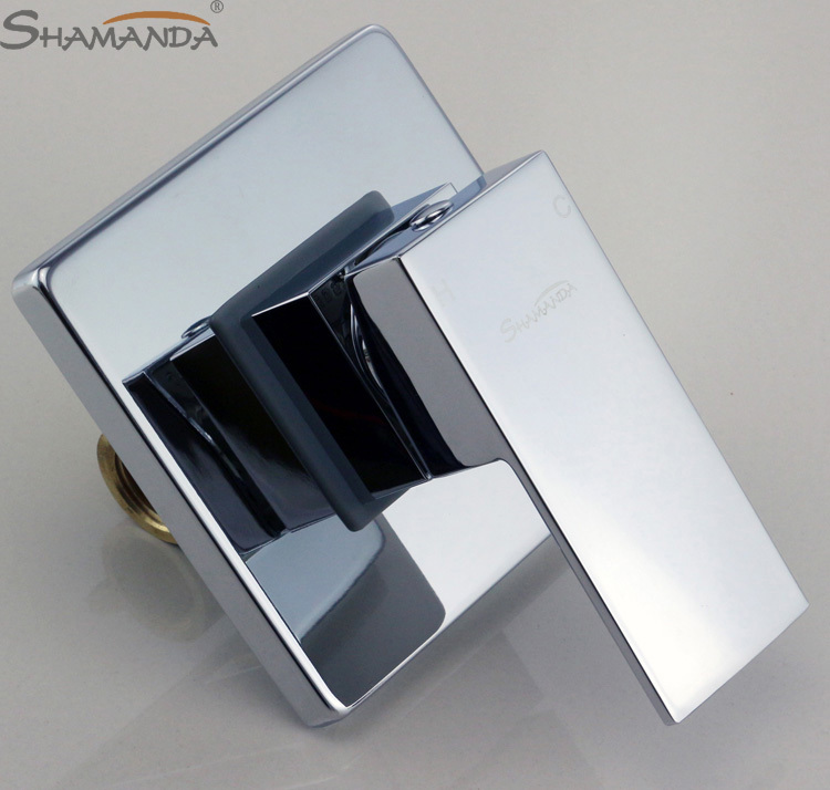 Bathroom Products In Wall Mounted Faucet Bath and Shower Mixer Valve Brass Chrome Single Function Actuated Faucet Valve 17557