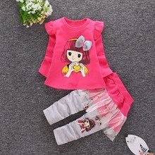 Autumn Baby Clothes Baby Girl Clothing Set Autumn Cotton Long Sleeve Girl T-Shirt+Pants Outfit Children Girls Clothes Suits цены