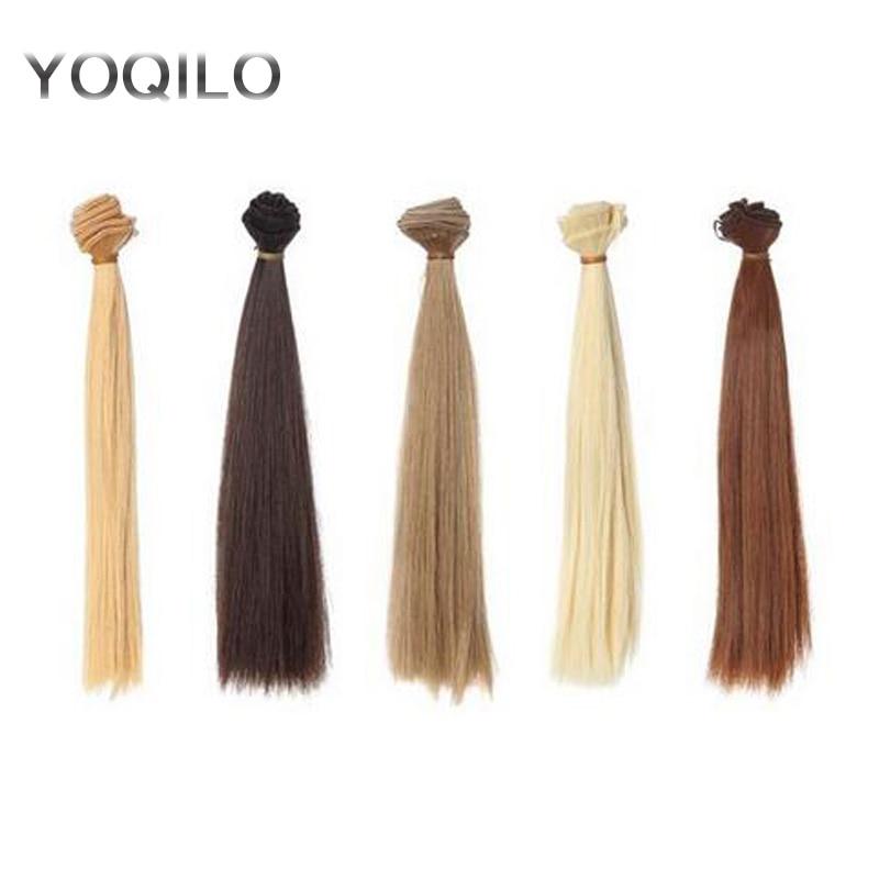 5PCS / LOT vroče prodajo DIY BJD lasulja lasišče visoke temperature žice sintetičnih las za lutke 25cm  t